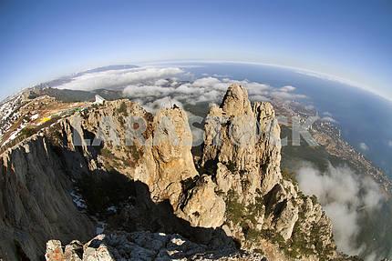 Rocks Ah-petri against Yalta in Crimea