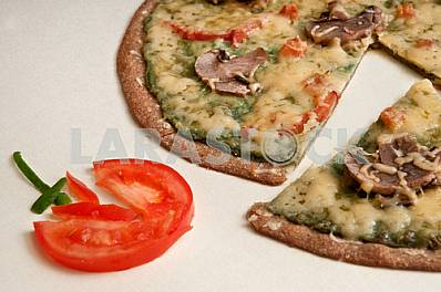 PIZZA DIETARY WITH MUSHROOMS