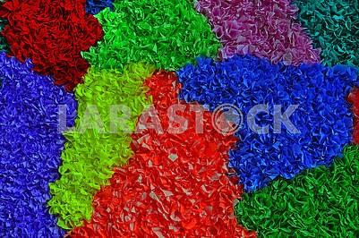 Multicolored papier-mache background