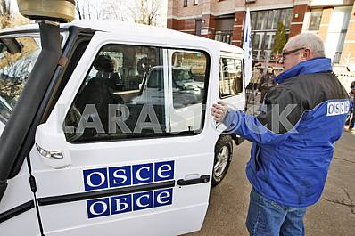 Handover ceremony of 20 armored vehicles to the OSCE mission in Ukraine