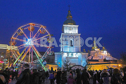 The Ferris Wheel and St. Michael's Cathedral