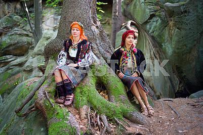 Gutsulka in the Carpathian forest