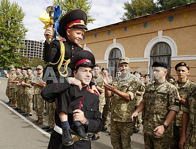 Celebration of the Day of Knowledge in the Kiev military lyceum