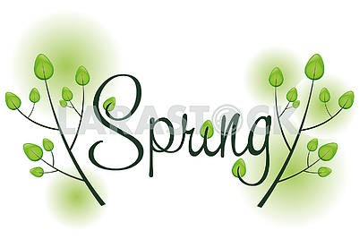 Spring background with text