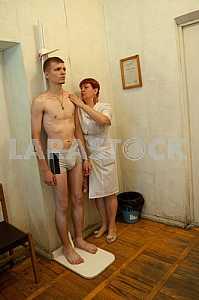 Recruits undergo a medical examination