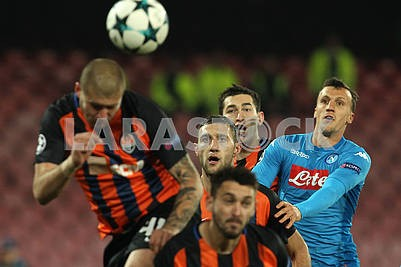 Players of Shakhtar and Napoli