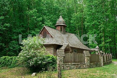 The old wooden Ukrainian church