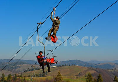 Rescue exercises on the lift