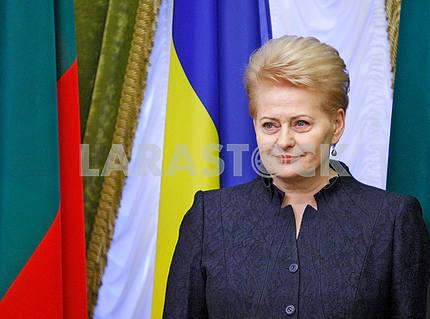 Dalia Grybauskaite,looking away
