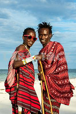 Two men Masai tribe