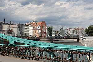 Tumski Bridge Wroclaw, Poland