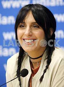 Jamala at a press conference