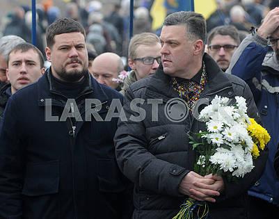 Andrey Ilenko and Oleg Tyagnibok