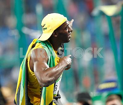 Usain Bolt won the 100 m distance