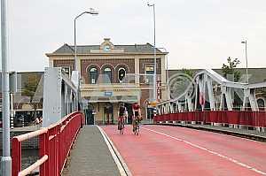 Station and sliding bridge city Middelburg