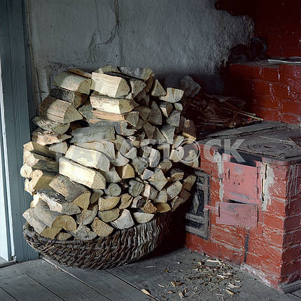 Wood near the oven