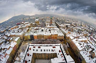 Панорамный вид из города