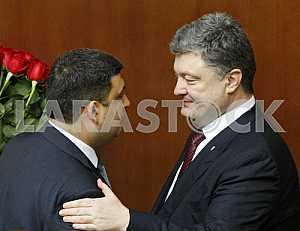 Petro Poroshenko and Volodymyr Groysman