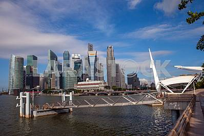 Singapore. A view of the pier and