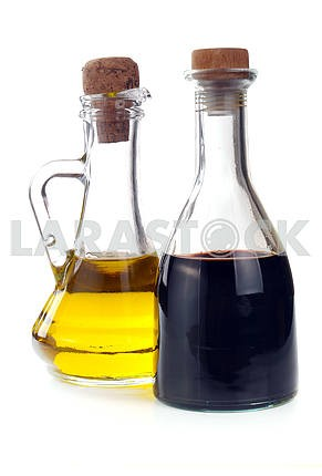 Balsamic vinegar and olive oil