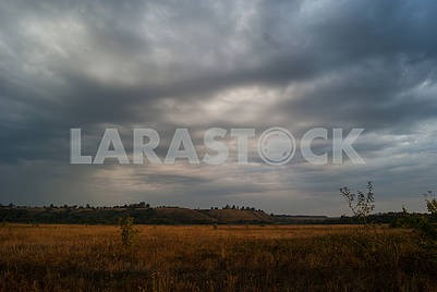 Cloudy valley landscape. Wildlife Photography.