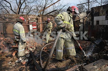 Rescuers in Balakley
