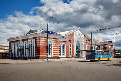 Railway station in quarantine covid-19. Kramatorsk.