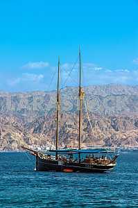 Pleasure boat on the Red Sea