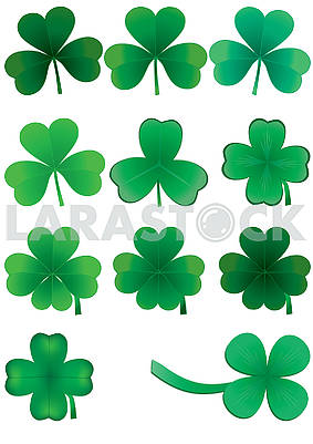 Set of clover leaves for St. Patrick Day, part 4