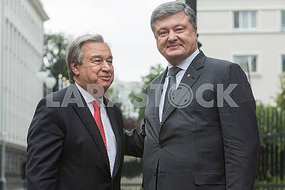 Petro Poroshenko and Antonio Gutterish