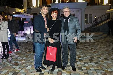 """Nikolay Tishchenko and Ilya November with his wife on the 10th anniversary of the magazine """"Focus"""""""