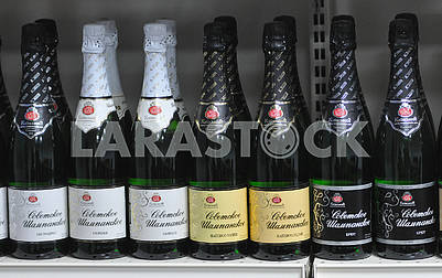 Bottles with Champagne