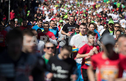 Participants of the charity race in Kiev