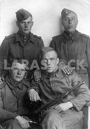 Group portrait of Soviet soldiers. The Second World War