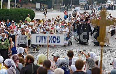 The procession on the occasion of 1028th anniversary of Baptism of Kievan Rus in Kiev.