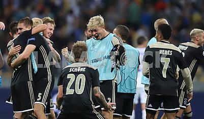 Ajax's team celebrates victory