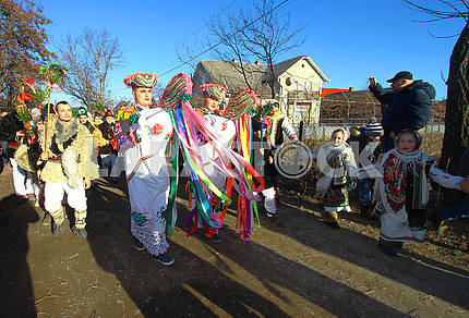 Trojan horse with mummers
