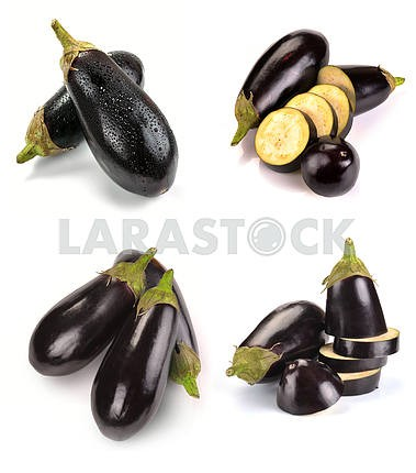 Aubergine and slices