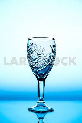 Glass wineglass It stands on the background