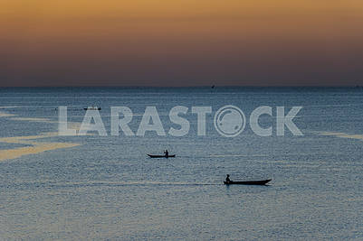 Boats in the Indian Ocean