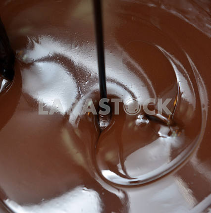 Lots of chocolate falling from above
