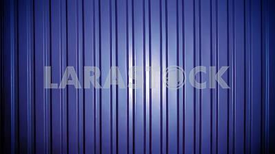 Background of blue corrugated metal sheet