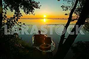 Boat centuries sunset.