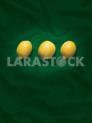 lemons on a green background