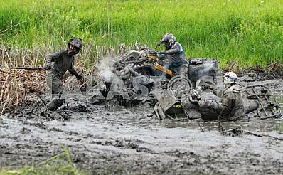 The athletes go the distance in the competition ATV on hard enduro July 27, 2013