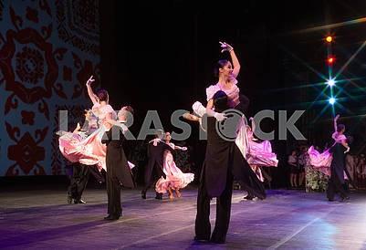 Graduates dance the waltz