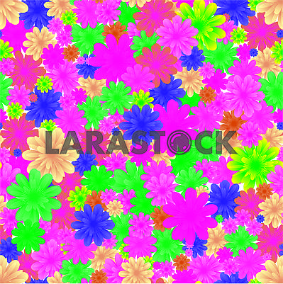 Floral seamless background, part 1