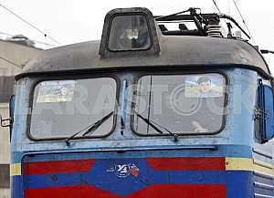 Rally of railway workers in Kiev.
