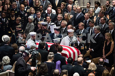 The farewell ceremony with John McCain