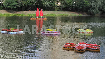 Floating flower beds